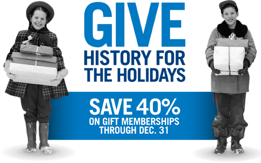 Give History for the Holidays