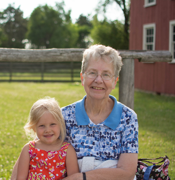Grandmother & Granddaughter visit Old World Wisconsin